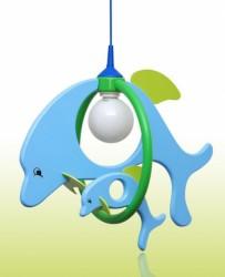 Dětský lustr Delfín