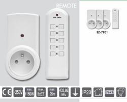 3 zásuvky na dálkové ovládání EZ-7901
